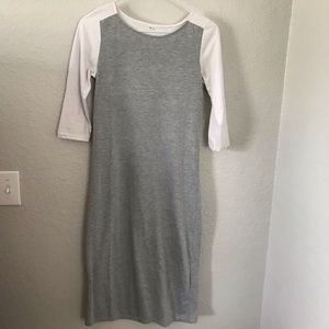 Boutique baseball style tee dress